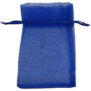 organza vrečke 14x17 cm, modre, 1 kos