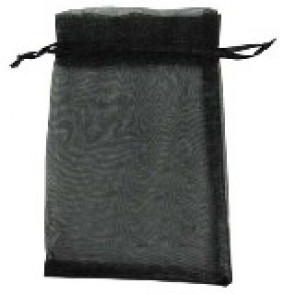 organza vrečke 13x18 cm, črne, 1 kos