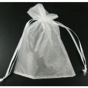 organza vrečke 13x18 cm, bele, 1 kos