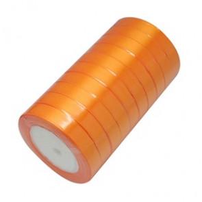 satenast trak sv. oranžen, širina: 12 mm, dolžina: 22 m