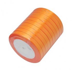 satenast trak sv. oranžen, širina: 6 mm, dolžina: 22 m