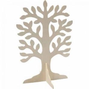 leseno stojalo za nakit - drevo 30x21,5 cm, naravne b., 1 k