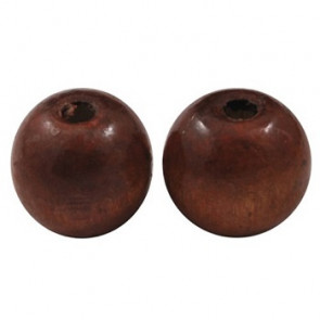 lesene perle okrogle 19~20x17.5~18mm, rjave, 20 kos