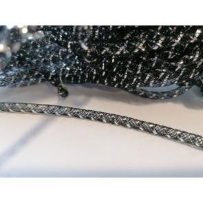 cev za nakit - tkana, 4.5 mm, črna, 1 m