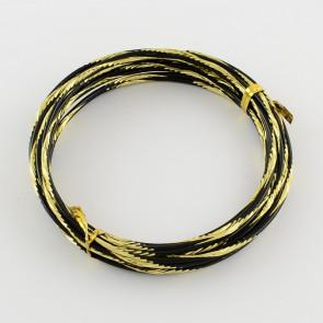 aluminijasta žica za oblikovanje, 2 mm, zlata b., dolžina: 5 m, 1 kos