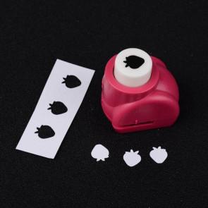 luknjač za papir - mali, jagoda 8x7 mm, 33x26x32 mm, 1 kos