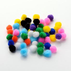 pom pom kroglice 10 mm, mix, 50 kos