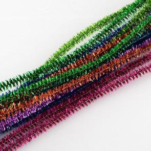 kosmata žica - bleščeča 290 x 7 mm, mix, 1 kos