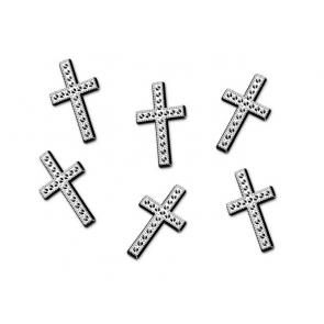 okrasni križ, srebrne b., 27 mm, 1 kos
