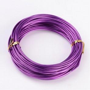 alu žica za oblikovanje, 2 mm, vijola, dolžina: 10 m