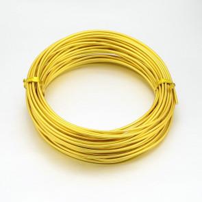 alu barvna žica za oblikovanje, 2 mm, zlato-rumena, dolžina: 10 m