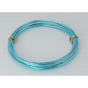 alu barvna žica za oblikovanje, 2 mm, Sky Blue, dolžina: 10 m