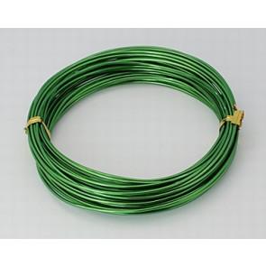 aluminijasta žica za oblikovanje, 1,5 mm, t. zelena, dolžina: 10