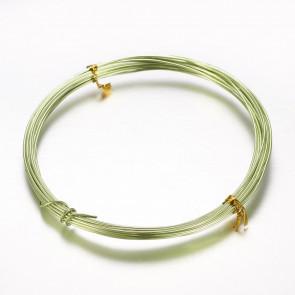 aluminijasta žica za oblikovanje, 2 mm, sv.zelena, dolžina: 10m