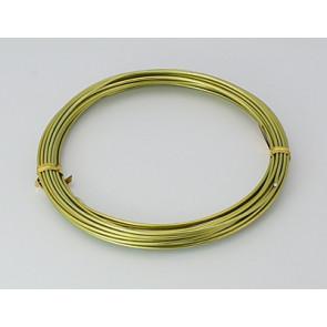 aluminijasta žica za oblikovanje, 1,5 mm, rumeno zelena, dolžina: 10 m