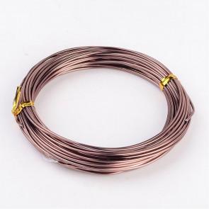 aluminijasta žica za oblikovanje, 1,5 mm, rjava, dolžina: 10 m