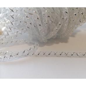 cev za nakit - tkana, 4.5 mm, bela, 1 m
