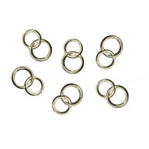 akrilni dekorativni poročni prstani, 15 mm, zlate barve, 1 kos