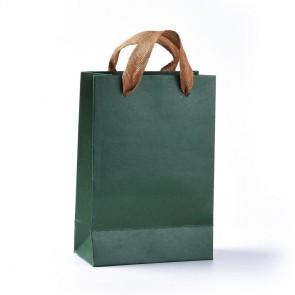 vrečka iz kartona, 18.9 x 12.9 x 0.3 cm, SeaGreen, 1 kos