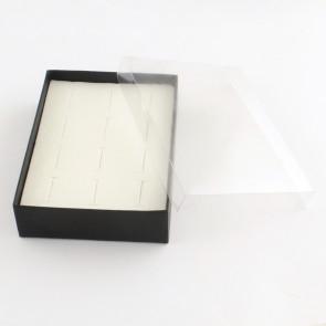 škatla za prstane iz kartona 12.7 x 9.3 x 3.2 cm, črna, 1 kos