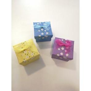 darilna embalaža, 5,1x5,1x5,3,9 cm, modra, 1 kos