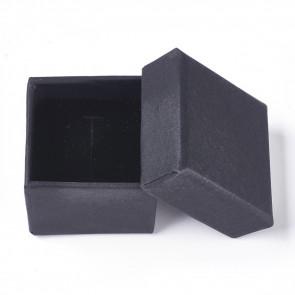 škatla za nakit (za prstan) 4.5 x 4.5 x 3 cm, črna, 1 kos