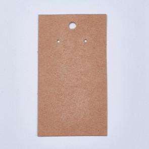 kartonček za uhane 9x5 cm, naravne rjave barve, 1 kos