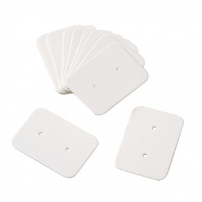 kartonček za uhane 35x25 mm, bele b., 1 kos
