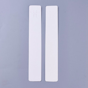kartonček za ogrlico 211x33.5x0.2 mm, bele b., 1 kos
