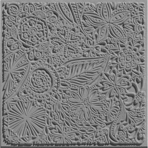 CERNIT teksturna plošča 9 x 9 cm, Flowers, 1 kos