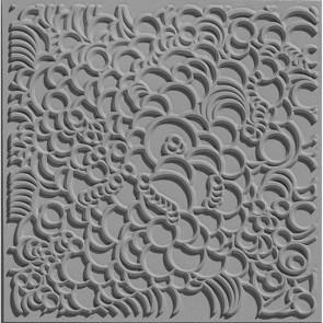 CERNIT teksturna plošča 9 x 9 cm, Bubbles, 1 kos