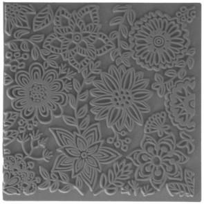 CERNIT teksturna plošča 9 x 9 cm, Blossoms, 1 kos