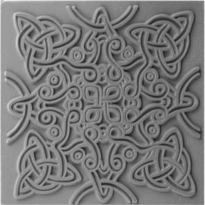 CERNIT teksturna plošča 9 x 9 cm, Celtic Knot, 1 kos