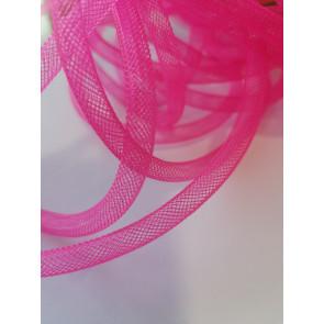 cev za nakit - tkana, 6 mm, pink, 1 m