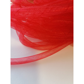 cev za nakit - tkana, 6 mm, rdeča, 1 m