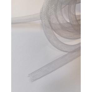 cev za nakit - tkana, 6 mm, siva, 1 m