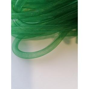 cev za nakit - tkana, 6 mm, t. zelena, 1 m