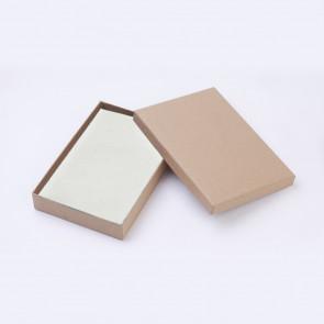 škatla za nakit 18x12.5x3 cm, rjave barve (bela podloga v notranjosti), 1 kos