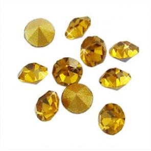 steklene perle brez luknje 2,9 mm, kamenčki, oranžno-rumeni, 10 kos