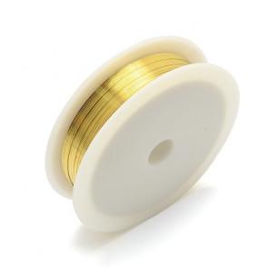 barvna žica za oblikovanje, zlata, 0,30 mm, dolžina: 21 m