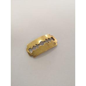 kovinski vmesnik 17x35 mm, b. starega zlata, žiletka, 1 kos