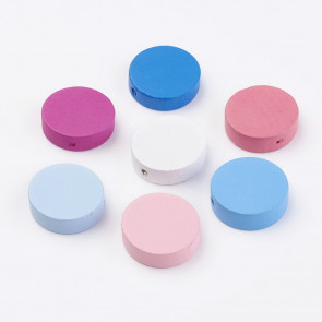 lesene perle 6x20 mm, luknja: 2 mm, mix, 20 kos