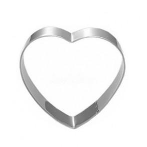 kovinski izrezovalnik - srce, 68x69 mm, nerjaveče jeklo, 1 kos
