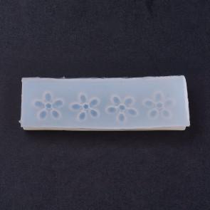 silikonski model 27x87x9mm, rože, notranja velikost 18mm, 1 kos