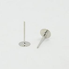 osnova za uhan 11x6x0.8 mm, platinaste b., brez niklja, 10 kos