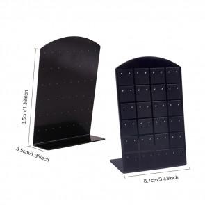 stojalo za uhane, 8.7x3.5x13.5 cm, za 24 parov uhanov, črna b., 1 kos