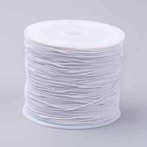 elastična vrvica 1 mm, bela, 18-20 m