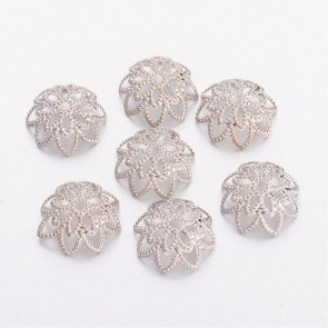 dekorativna kapa 10 mm, platinaste b., 10 kos