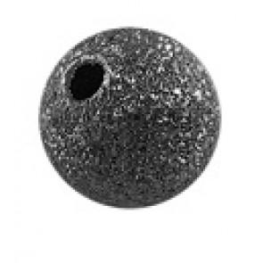 dekorativne perle 6 mm, črne, brez niklja, 1 kos