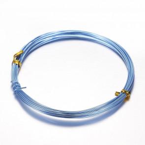 """aluminijasta žica za oblikovanje, 1,5 mm, """"Sky Blue, dolžina: 10 m"""